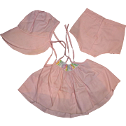 """Authentic Effanbee Dy-Dee Embroidered Yoke Sundress for 15"""" Baby Doll"""