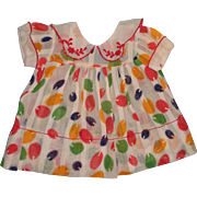 """Effanbee Patsy Ann TAGGED Balloon Dress for 19"""" Patsy Ann Composition Doll"""