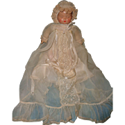 Madame Alexander Sleeping Baby Babyette Tagged Composition Doll ~ Gift Giving Condition