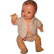 """Adorable Effanbee Dy-Dee Mold 1 Brunette 15"""" Baby Doll ~ Needs a new home"""