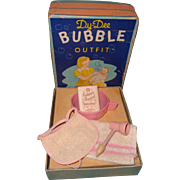All Original RARE Dy-Dee Bubble Outfit Box Toy Set for Dy-Dee Baby ~ Gift Giving Condition