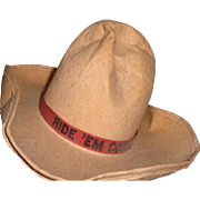 Shirley Temple Texas Ranger Tank Hat for Composition Doll