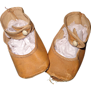 Large Oil Cloth Shoes and Socks for Large Composition or Bisque Doll