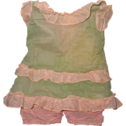 Very Pretty 2Pc Organza Dress Set for Large Composition or Bisque Doll