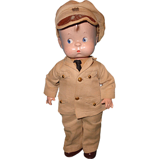Effanbee Factory Skippy Military Soldier Composition Doll