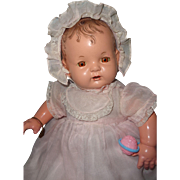 Effanbee Factory Original Baby Evelyn Composition Doll ~ Nice