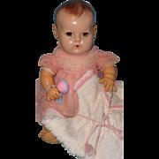"Beautiful Effanbee Mold 2 Dy-Dee 15"" Baby Doll w/ Extras"