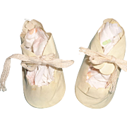 Nice Larger Oil Cloth Shoes for Composition or Bisque Doll