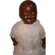 """Rare 25"""" Black Happy Baby Type Composition Doll"""