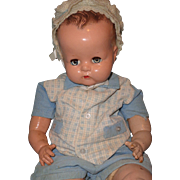 """Big Beautiful 25"""" Ideal Composition Baby Boy Doll"""