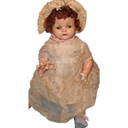 """Effanbee  Early Sugar Baby 23""""  Composition Baby Doll"""