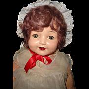 "Pretty Effanbee 30"" Factory Original Marilee Composition Doll"