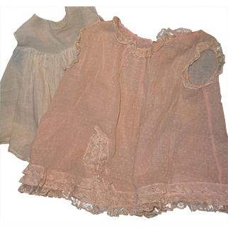 Factory Organza Mama Doll Dress & Slip for Larger Composition or Bisque