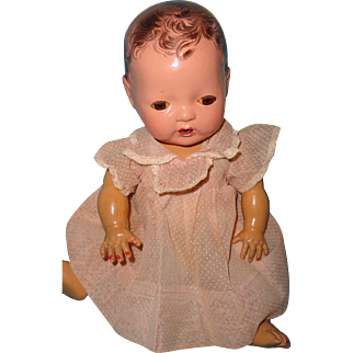 """Authentic Effanbee Dy-Dee Pink Swiss Dot Dress for 11"""" Baby Doll"""