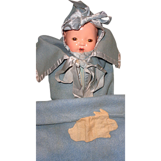 """Authentic Effanbee Dy-Dee 3 Pc Bunting Set for 11"""" Baby Doll"""