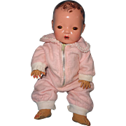 "Effanbee Dy-Dee Eiderdown Pink Snow Suit for 11""  Baby Doll"