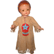 Stunning Effanbee Native American Patsy Ann Composition Doll