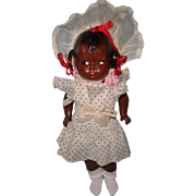 Early Effanbee Black Baby Grumpy Composition Baby Doll