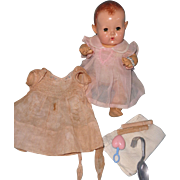 """Effanbee Dy-Dee 11"""" Mold 3 Baby with Extra Goodies"""