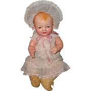 "Factory Original Effanbee Rare 13"" Bubbles Composition Baby Doll"