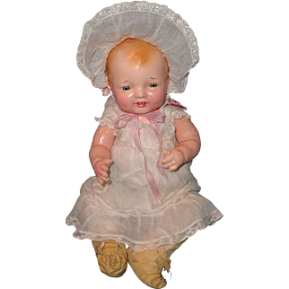 "Factory Original Effanbee Rare 13"" Bubbles Composition Baby Doll"