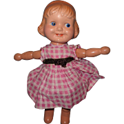 Adorable Margie Wood Segmented Composition Doll by J Kallus