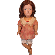 "Authentic 15"" Miss Dolly Schoenhut Wooden Doll"