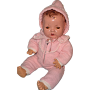 """Authentic Effanbee Dy-Dee MINT Pink Eiderdown Snowsuit for 15"""" Baby Doll"""