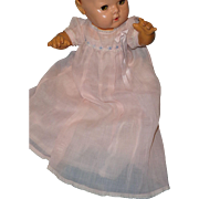 "Authentic Effanbee Dy-Dee Baby Gown w/ Matching Slip for 15"" Baby Doll ~ Mint"