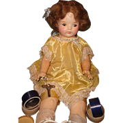 Rare Factory Composition Talking Key Wind Phonograph Doll ~ Not Dolly Reckord~ Not Mae Starr
