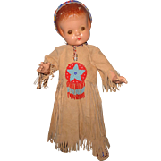 Stunning Native American Effanbee Patsy Ann Composition Doll