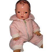 """Authentic Effanbee Dy-Dee Pink Eiderdown Snowsuit for 11"""" Baby Doll ~ Precious"""