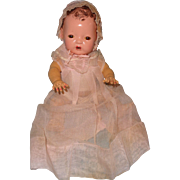 "Very RARE Early Effanbee Dy-Dee Pink Organza Baby Gown Set for 13"" Doll"
