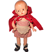 Rare Effanbee Little Red Riding Hood Patsyette Composition Doll