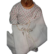 "Effanbee Dy-Dee Lou Pajamas and Flannel Bed Robe for 20"" Doll"