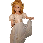 """Effanbee Factory Orig. 27"""" Composition Little Lady Doll~ Beautiful"""