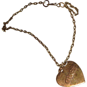 Authentic Effanbee Metal Heart Necklace for Composition Doll