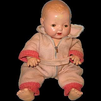 "Effanbee Dy-Dee Eiderdown Pink Snowsuit for 15"" Baby Doll"