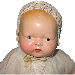 Beautiful Orig. Early Composition Baby Doll ~ Bye Lo Type