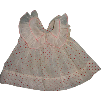 Nice Organza Shirley Temple Type Polka Dot Dress for Composition Doll