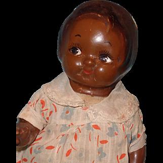 Rare Horsman Perterkin Composition Black Doll ~ Dolly Dingle