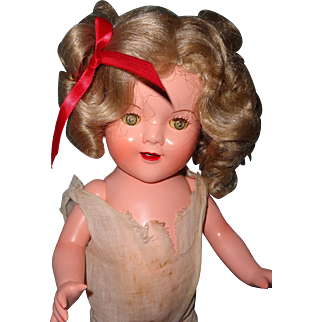 Shirley Temple Look A Like Composition Doll
