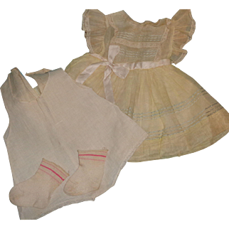 """Authentic Ideal Betsy Wetsy Dress Set for Large 21"""" Doll"""
