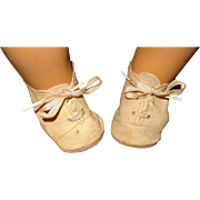 "Effanbee Dy-Dee Lou Oil Cloth Shoes for 20"" Doll or Other Fat Footed Friends"