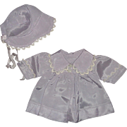 """Authentic Effanbee Coat and Bonnet Set for 13"""" Baby Doll ~ Mint"""