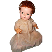 "Effanbee Dy-Dee Baby 15"" in Authentic Factory Gown ~ Cute"