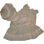 """Authentic Effanbee Dy-Dee 3 Pc Organdy Dress Set for 15"""" Baby Doll"""