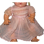 """Authentic Early  Effanbee Dy-Dee Organza Dress for 15"""" Baby Doll  TLC"""