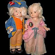 Factory Original Effanbee Patsyette George & Martha Washington Composition Dolls ~ Historical Series