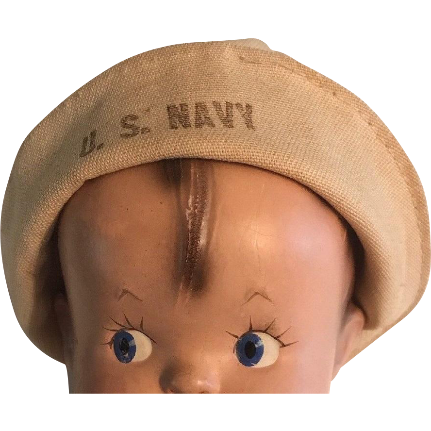 Authentic Effanbee Skippy Navy Sailor Cap for Composition Doll